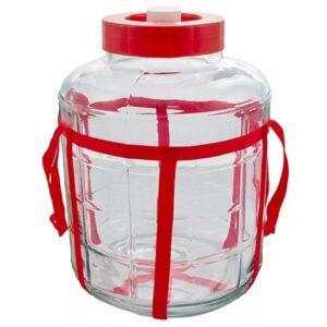 Бутыль стеклянная с гидрозатвором 18 литров
