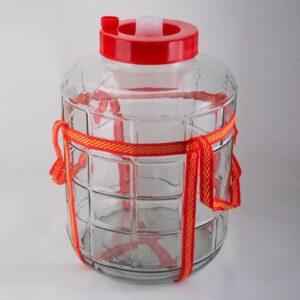 Бутыль стеклянная с гидрозатвором 25 литров