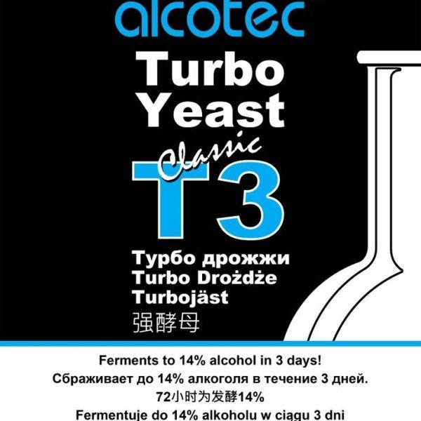 Спиртовые дрожжи Alcotec Classic T3 Turbo, 120 г