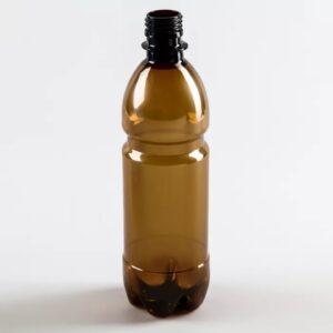 Коричневая ПЭТ бутылка 0.5л