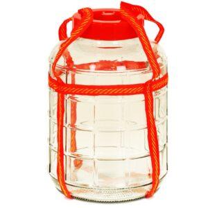 Бутыль стеклянная с гидрозатвором 9 литров.
