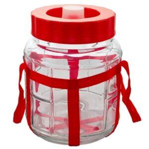 Бутыль стеклянная с гидрозатвором 5 литров.