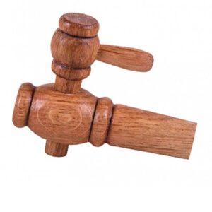 Кран деревянный для дубовой бочки