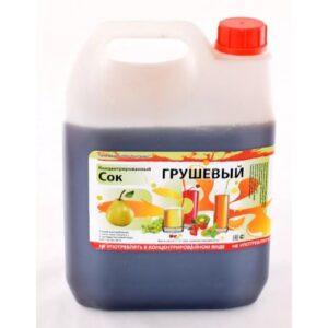 Сок концентрированный грушевый (канистра 5 кг)