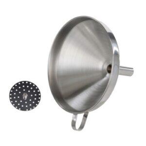 Воронка с фильтром 15 см, нерж. сталь