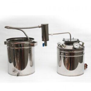 Бытовой дистиллятор ДТФ13тэн 13 литров дачный универсальный фланцевый с ТЭНом
