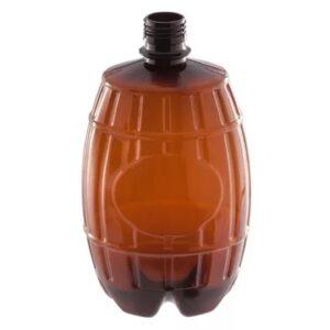 Коричневая ПЭТ бутылка 1 л (Боченок)