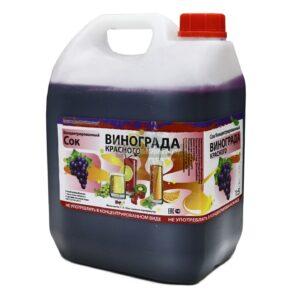 Концентрированный сок Виноград красный (канистра 5 кг).